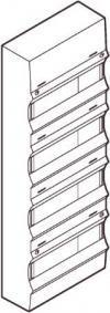 Gruppetavle 48 modul - Stor UG24 gruppetavle i hvid og lysegrå